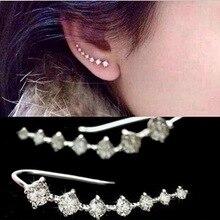 Kittenup Fashion Seven stars Earrings for women Trendy Jewelry Beautifully Ear Jacket Cuff Accessories line type