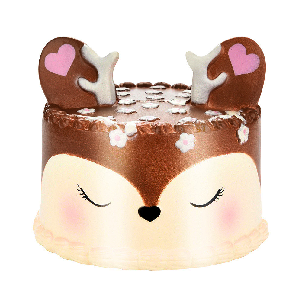 Squishy Jumbo Deer Cake Slow Rising Scented Squeeze Toy Collection Cure Gift For Relieves Stress Anxiety Home Decoration Toys