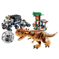 Hot Jurassic World 2 Carnotaurus Gyrosphere Escape Building Block Bricks Toys Compatible With Legoings Dinosaur 75929