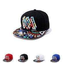 Colorful Graffiti Totem Flat Brim Hip Hop Baseball Cap For M