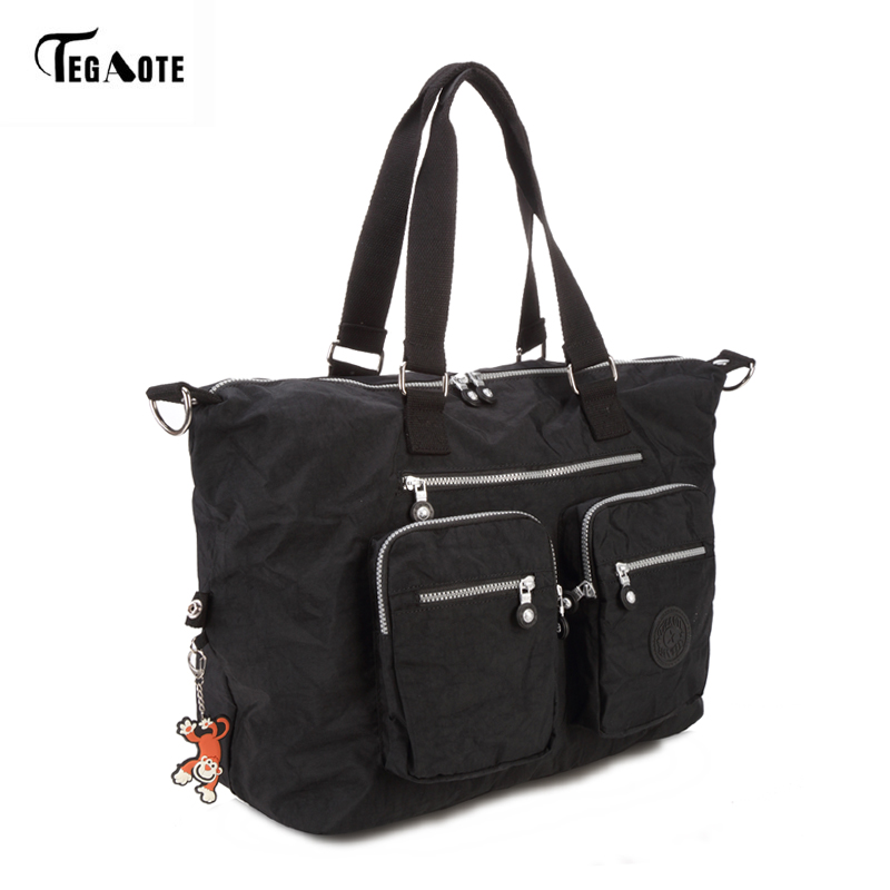 TEGAOTE Large Capacity Women Messenger Bag Nylon Women Travel Bags <font><b>Big</b></font> Mummy Handbags Casual Tote Female Sac A Main