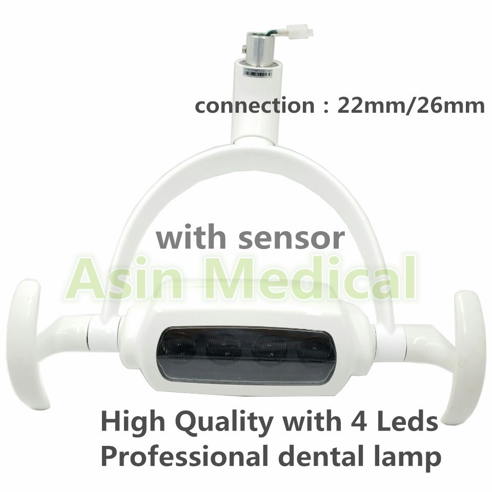 Høj kvalitet Dental 4pcs LED Oral Light LED Induktionslampe til Dental Unit Chair 2018 Deasin