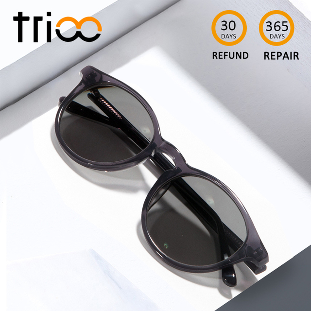 eb8cc547487 TRIOO Retro Round Myopia Sunglasses Red Vintage Reading Glasses UV400  Driving Prescription Eye glasses Fashion Diopter Eyewear