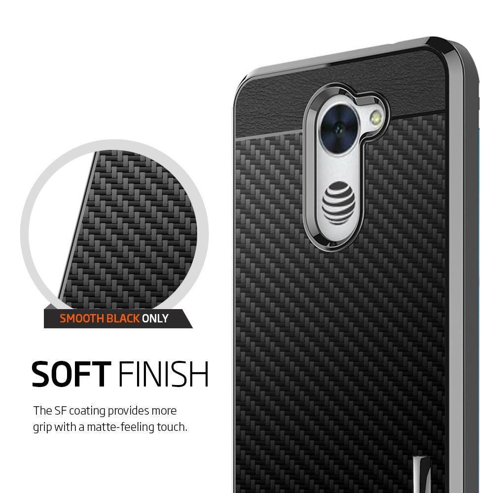 SuaGet Case Cover For Huawei Ascend XT 2 Shockproof Carbon Fiber Hybrid Slim Case Cover For H1711 / Elate 4G LTE