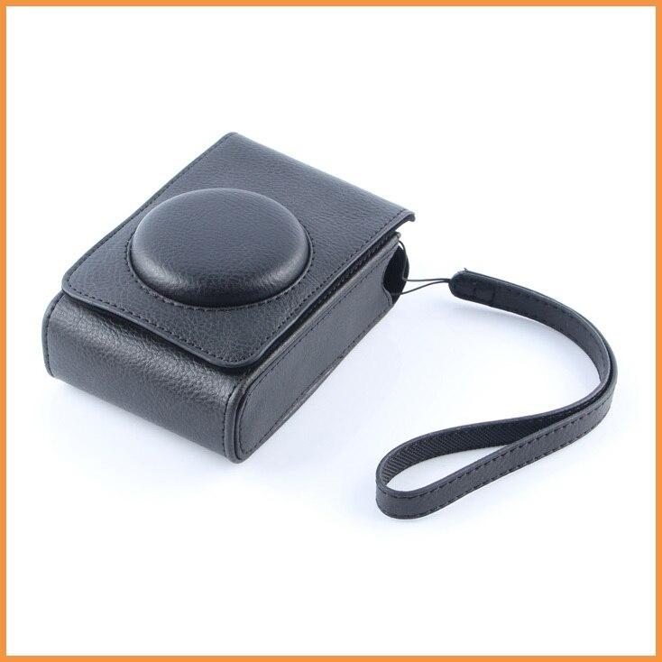 Black Leather case Camera Cover Bag Digital Camera case for Fujifilm XF-1 XF1 XQ1 XQ2