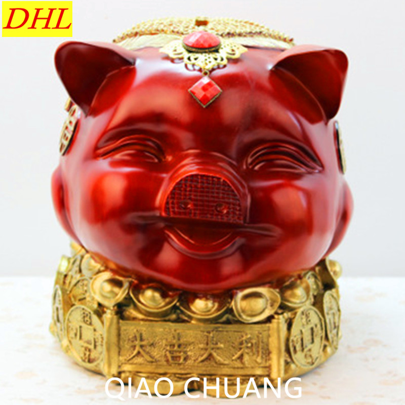 NEW Resin Art Craft 27CM Lucky Big Pig Fashion Exquisite Saving Box Creative Home Decorations Birthday Gift RETAIL BOX S390 lucky john croco spoon big game mission 24гр 004