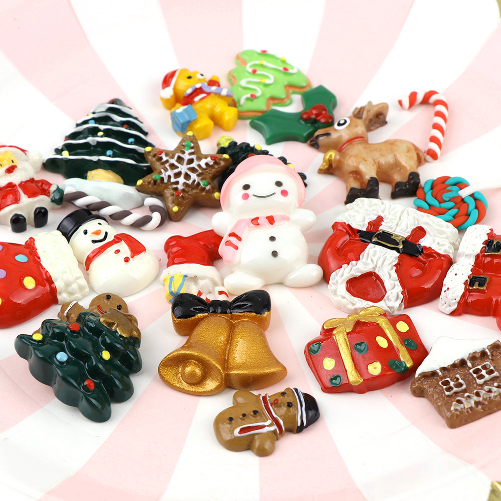 5PC Lovely Christmas Tree Resin Charm Pendant For DIY XMS Jewelry/&Craft Making