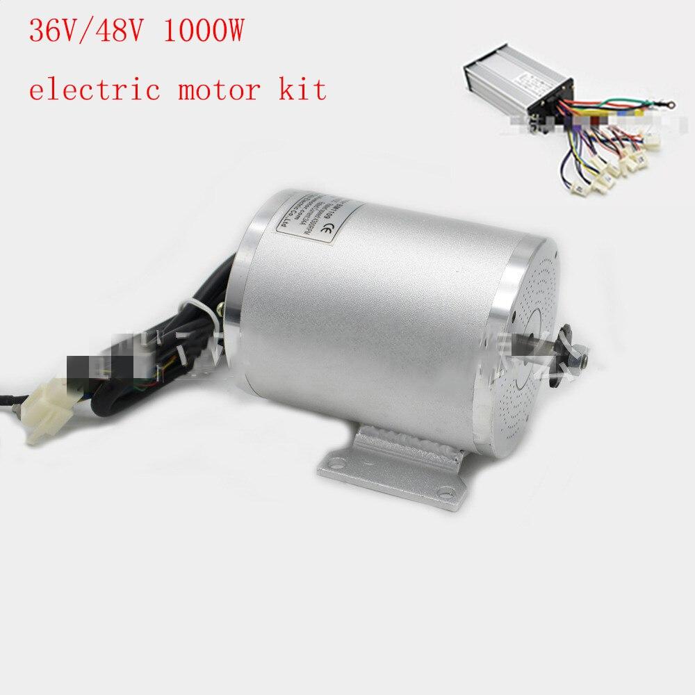 36 V/48 V 1000 W DC moto électrique r avec contrôleur haute vitesse mi entraînement Kit de Conversion pour Scooter/escooter/ebike/moto/tricycle