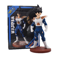 20cm Anime Dragon Ball Z Vegeta Goku Battle Version PVC Action Figure Doll Model Hot Toy Christmas Gift For Children wvw 20cm hot sale anime heroes naruto hyuga hinata model pvc toy action figure decoration for collection gift free shipping