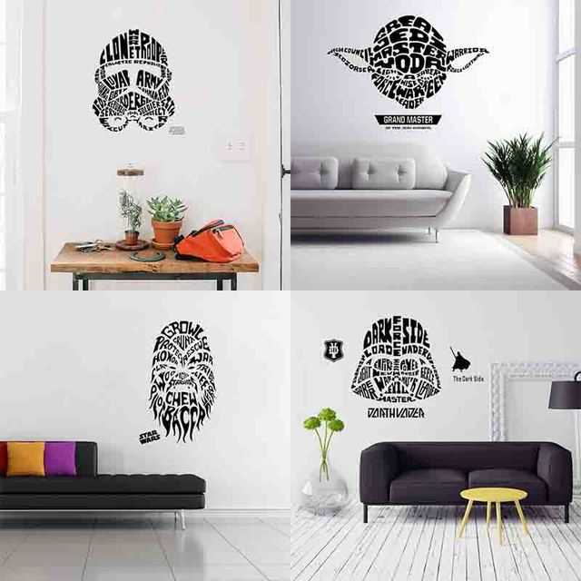 2017 new wall stickers Decals Star Wars home decor for kis living     2017 new wall stickers Decals Star Wars home decor for kis living room boy  bedroom decoration