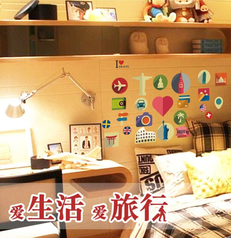 Creative Meaning Of Travel DIY Free Stickers Wall Notebook Living Room Wardrobe Home Decor Mural Decal MJ7003 In From Garden