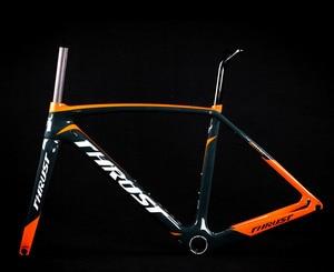 Image 1 - 2019 wzdłużne pomarańczowy rower rama rowerowa węgla rama rowerowa widelec sztyca zacisk zestaw słuchawkowy 49 52 54 56 58 xdb dpd wysyłka
