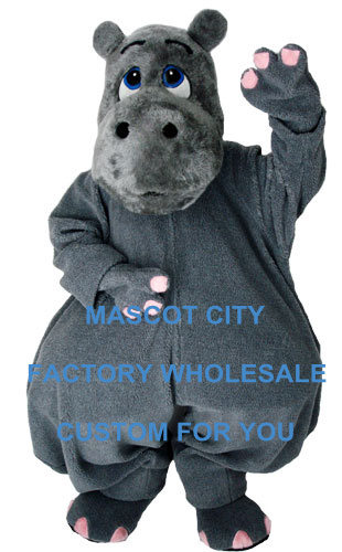 Grey River Horse Hippo Mascot Costume Adult Size Cartoon Character Mascotte Mascota Carnival Cosply Party Fancy Dress SW1178