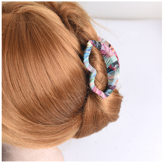 Newstyle Around cloth Hair Claw Clips Women Banana Barrettes Light brown Hairpins Hair Accessories For Women Clips Clamp CL-S007