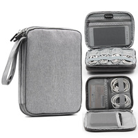 Double Layer Electronic Gadget Storage Bag Travel Digital Accessories Organizer Pouch For HDD USB Data Cable