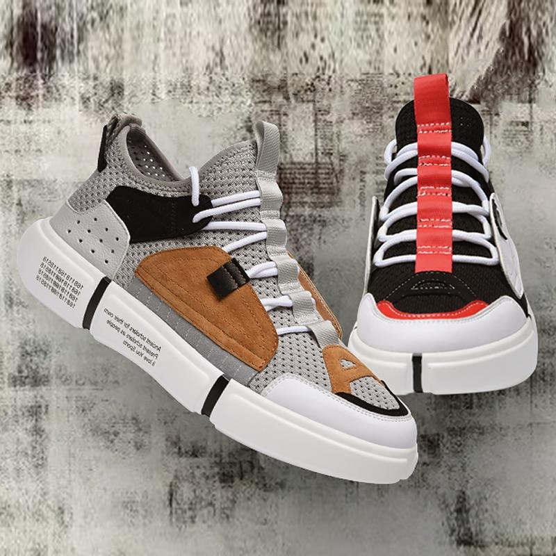 Ins Super gris Respirant Chaussures Feu Noir Pour Hommes SVpMUz