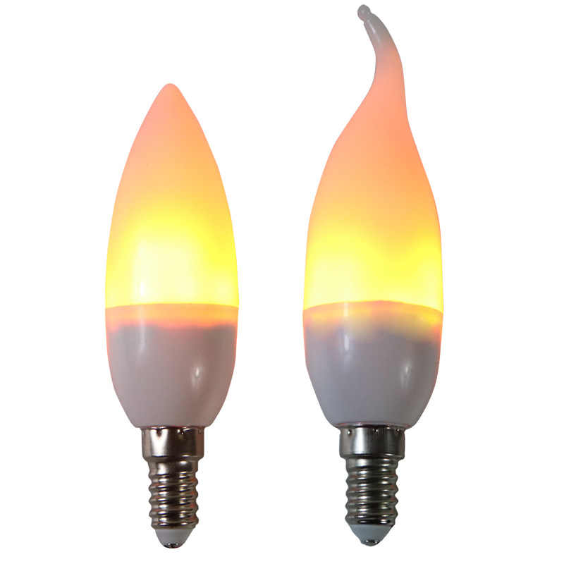 FLAME LIGHT E27 E14 9W Full Model LED Flame Bulb candle lamp 85-265V LED Flame Effect Fire Light Bulb Flickering Emulation Decor