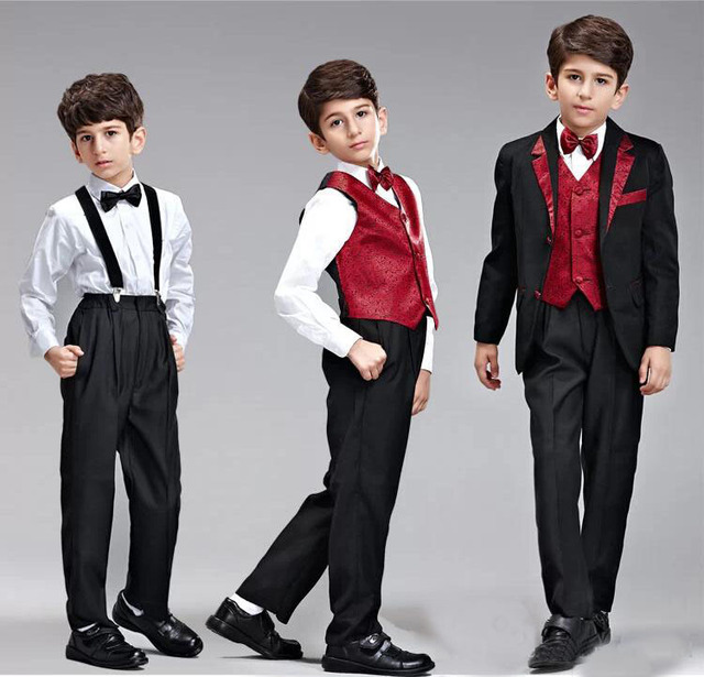 2018 New Arrival Kids Boys Blazer Suits Set Boys Wedding Suits ...