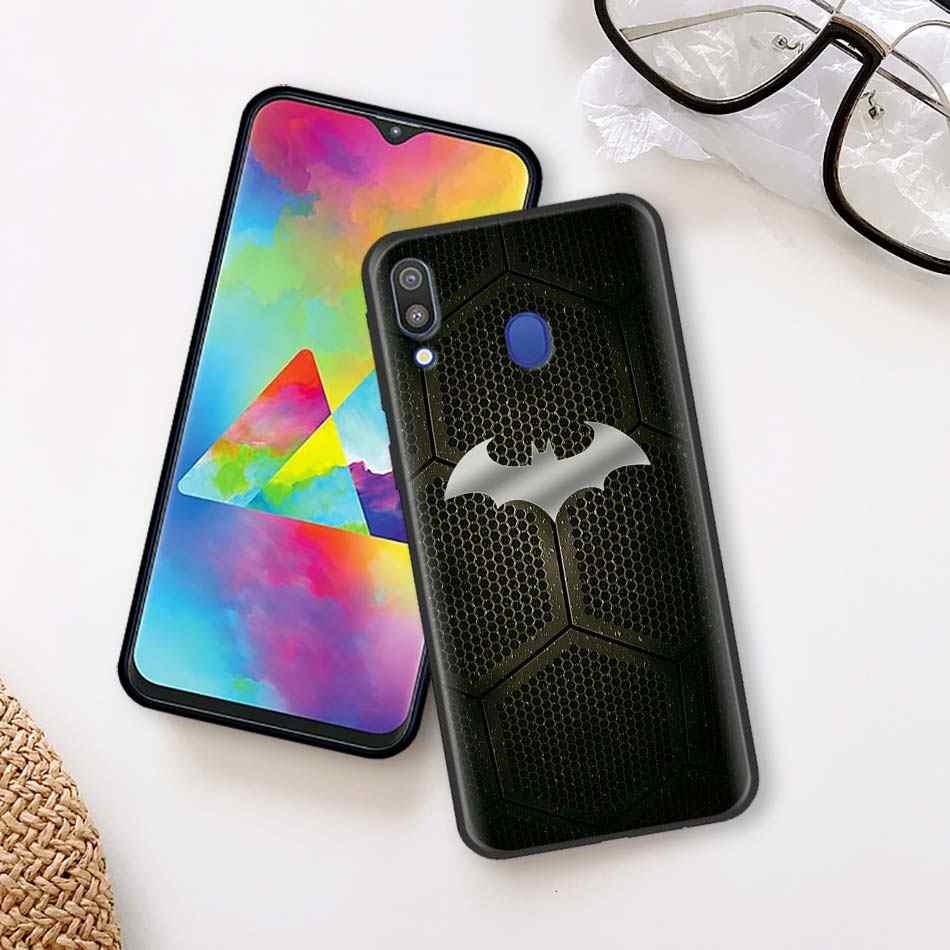 Legal marvel batman logotipo preto caso macio para samsung galaxy a50 a70 a40 a10 a20 a30 a60 a9 a8 a6 a7 tpu silicone caso capa