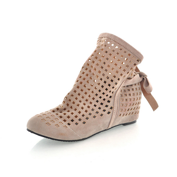 New Womens Wedges Low Hidden heel Hollow Out Summer Sandals Ankle Boots Shoes