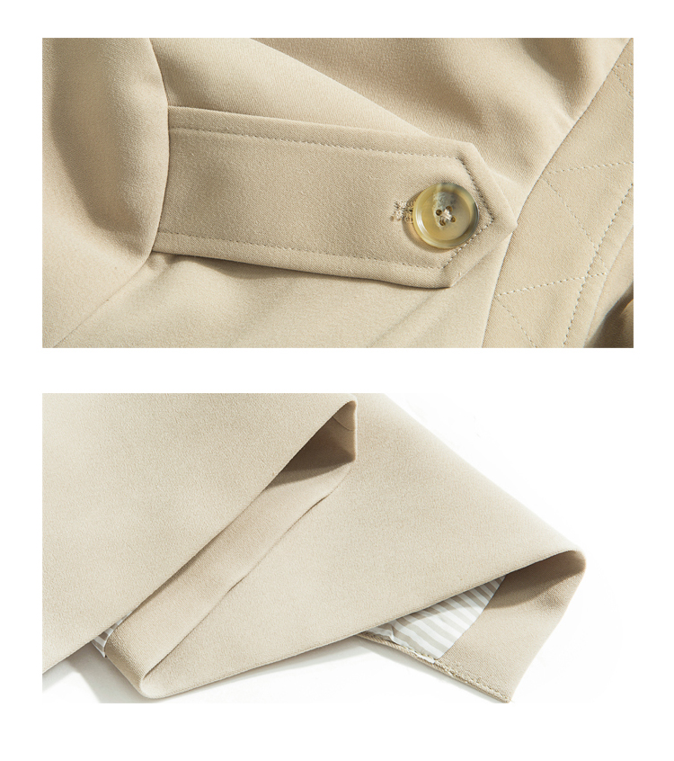 Spring Autumn Maxi Long Women's Loose Trench Coat With Belt Khaki & Black Plus Size Korean Style Windbreaker Outwear 4