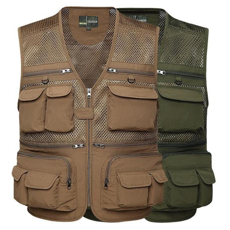 Top quality mesh fishing vest working vest summer tactical for Best fishing vest