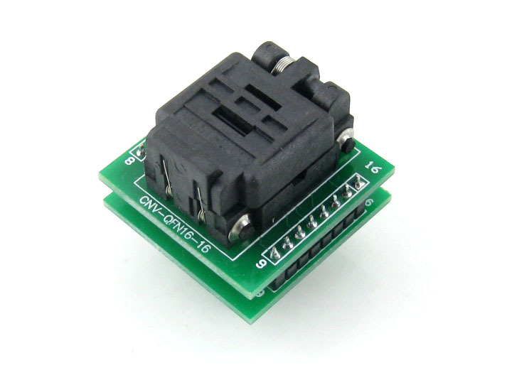 QFN16 TO DIP16 # MLF16 MLP16 Plastronics QFN IC Programming Adapter Test Burn-in Socket 3 * 3 mm 0.5 Pitch + Free Shipping