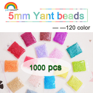 Image 1 - 5mm 1000PCS YantJouet 133Color Beads for Kids hama Beads Iron Fuse Beads diy Puzzles high quality gift children toy