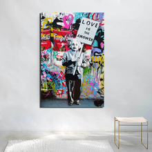 Banksy Graffiti Wallpaper HD Canvas Painting Prints Living Room Home Decoration Modern Wall Art Oil Posters Picture