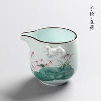 Hand Painted Celadon Teacup Jingdezhen Tea Set Tea Sea Ceramics Tea Set A Variety of Styles Refinement Elegance Porcelain