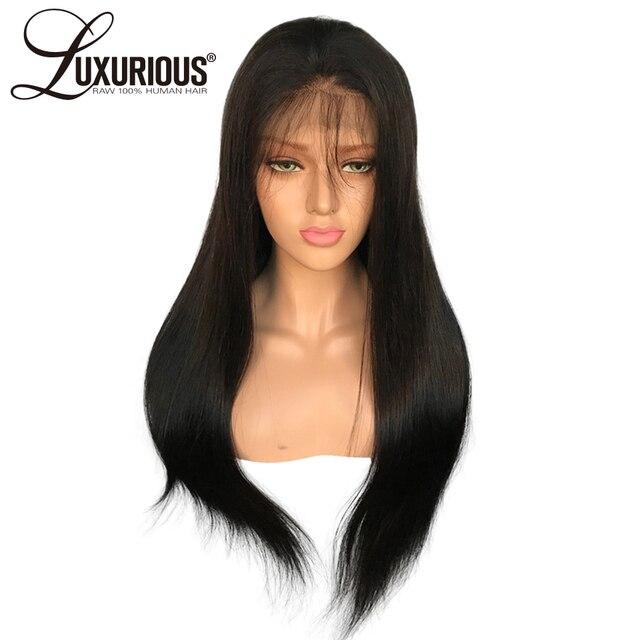 Pelucas de pelo humano recto del frente del cordón para las mujeres pelo  Remy brasileño 8 ca13164f31c2