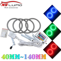 Car accessary LED angel eyes Multicolor changing halo rings 16 colors rgb led angel eyes with Remote cotrol for headlight