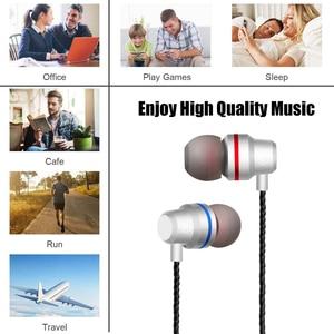 Image 2 - DUSZAKE In Ear Headphones For Xiaomi Earphone For Phone Stereo Bass Headset Metal Wired Earphone HiFi Headphones Mic for Samsung