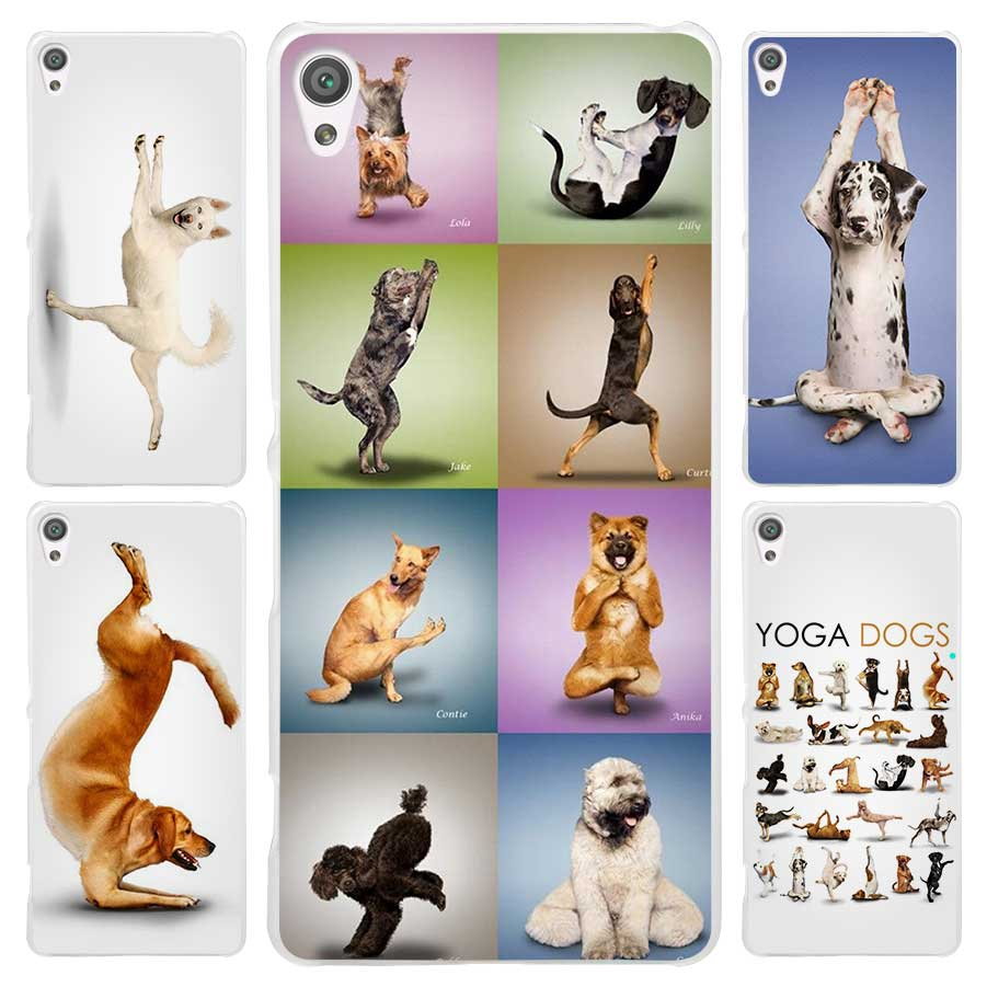 Hot Sale Yoga Cats dogs Clear Cover Case for Sony Xperia Z1 Z2 Z3 Z4 Z5 M4 Aqua M5 XA XZ C4 E5 l36h