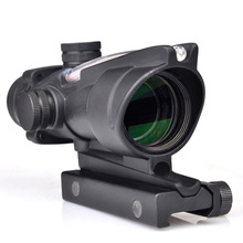 SEIGNEER ACOG Rifle Scope 4x32 True Fiber Red Illuminated Crosshair BDC Gun Scopes Magnification Prism Hunting Range Rifle Scope new dual charger for so kkia total station bdc 46a b bdc 58 bdc 70 battery