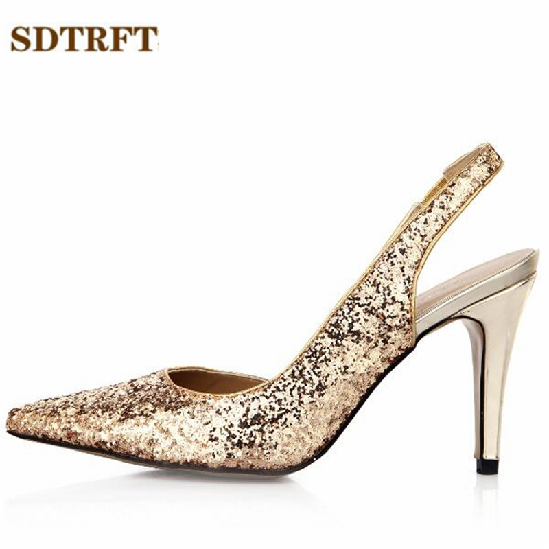 SDTRFT Plus:35-42 43 Summer D'Orsay OL work Pointed Toe Sandals zapatos mujer 9cm thin heels wedding shoes woman sexy pumps summer peep toe zapatos mujer sandals 15cm thin high heels crystal platform sexy woman shoes wedding dance shoes
