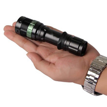 1200 Lumen Zoomable CREE XM-L T6 LED Flashlight Torch Zoom Lamp Light by 18650 Battery for Self Defense on hunting, climbing