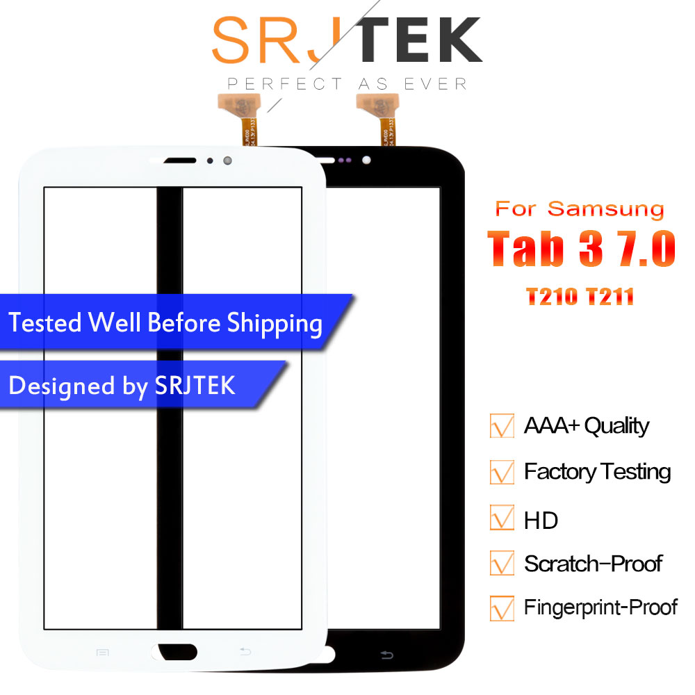Srjtek Replacement SM-T211 Samsung Sm T210 Galaxy Digitizer Tablet Touch-Screen for Glass-Panel-Sensor