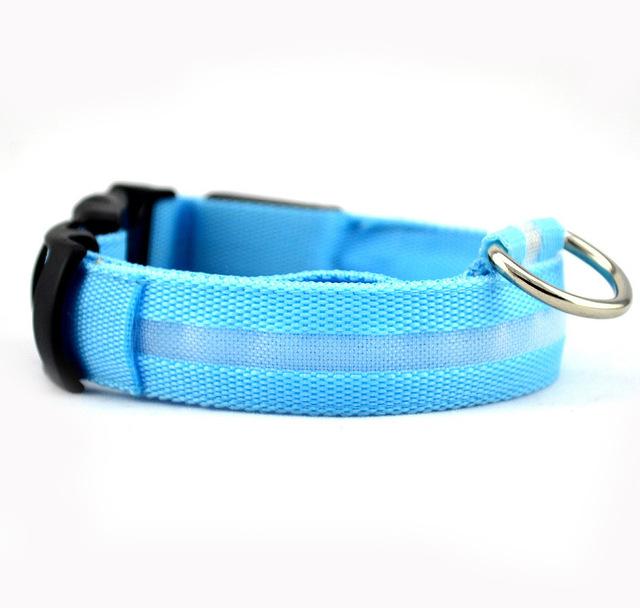 Nylon Pet Dog Collar LED Light Night