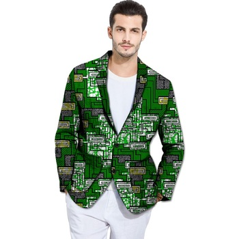 New Design African Style Print Men Suit Jacket African Men Blazers For Party Customize African Single Breasted Man's suit