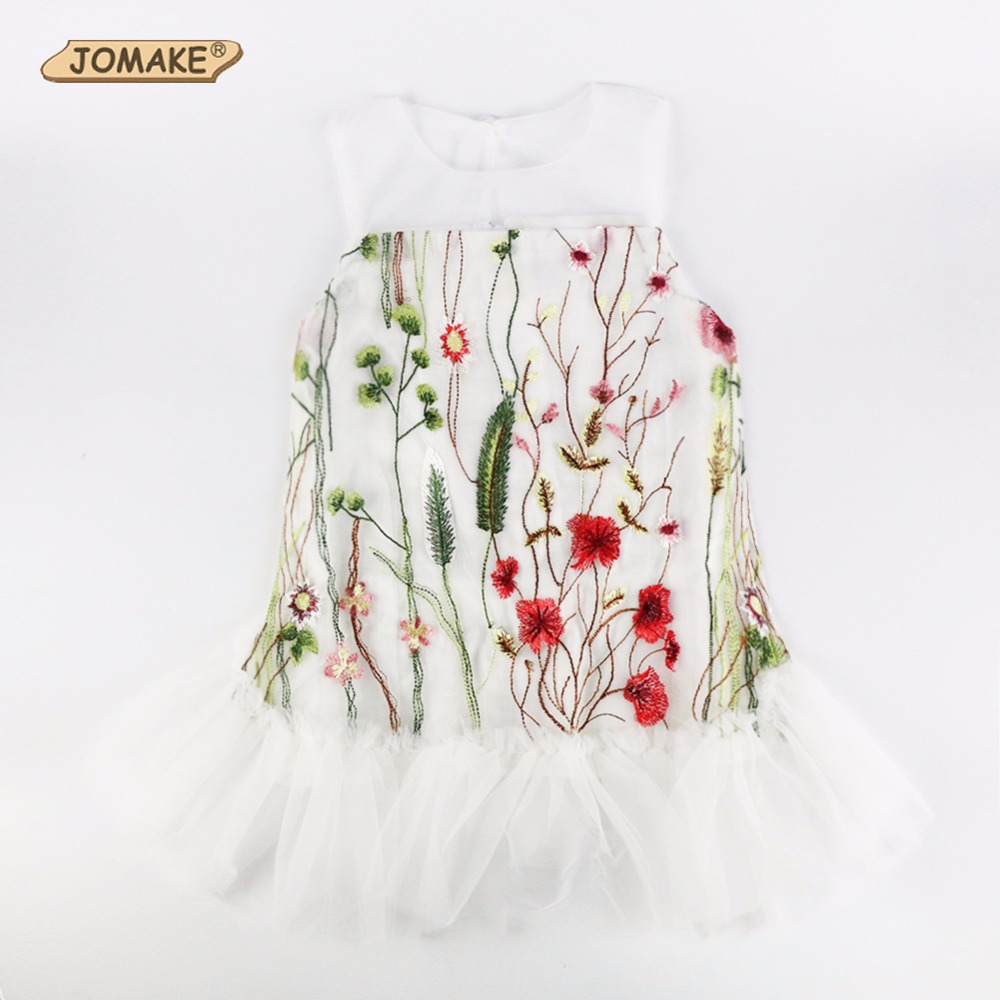 Elegant Embroidery Floral Baby Girls Dress Party Princess Dress Girl New Summer Kids Dresses For Girls Clothes Vestidos Infantil