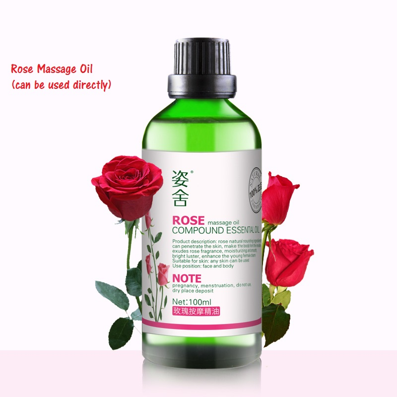 Cosmetics 1bottle Rose Massage Oil, compound 100ml, whole body skin care, whitening,moisturizing, push oil white tiger balm ointment soothe insect bites itch strength pain relieving arthritis joint massage body care oil cream l37