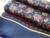 100% Satén de Seda Larga Bufanda Para Los Hombres 26X160 cm Nueva Desigual Clásico Patrón Impreso de Alta Calidad Hombres de Negocios de La Bufanda Rojo al por mayor