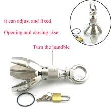650g Big Expansion Stainless Steel Stretching Anal Dilator Plug W/Lock,Locking Butt Plug,Anal Extension Toys  Dilator Anal Balls