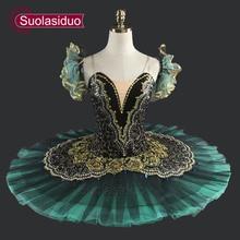Adult Green Ballet Tutu Performance Professional Classical Tutus Girls Pancake SD0014