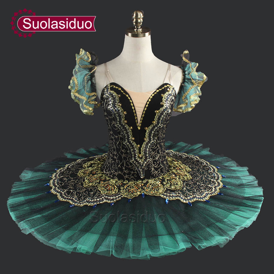 Adulte Vert Tutu De Ballet Professionnel Classique Ballet Tutus Filles Crêpes Tutu SD0014