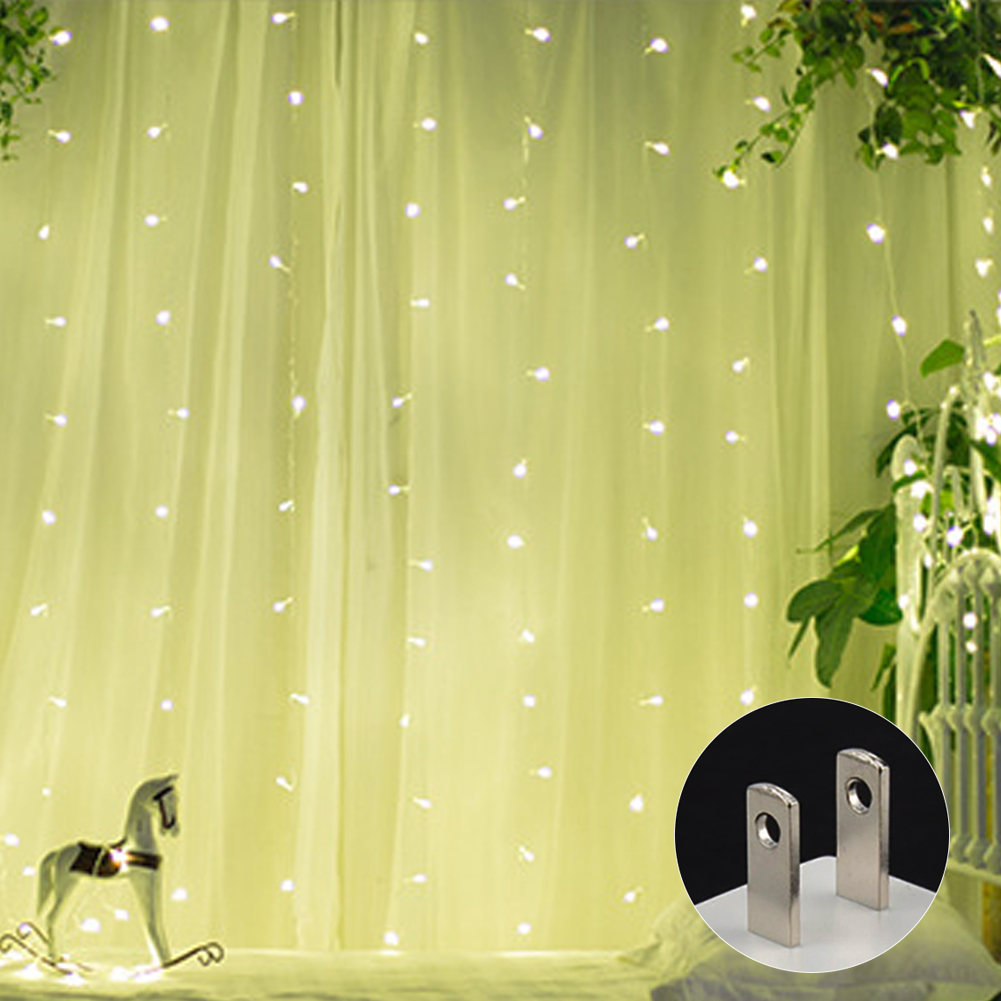 Conscientious 3 * 3m 304 Leds Warm Curtain Light Ice Bar Background Decoration Neon Lights With