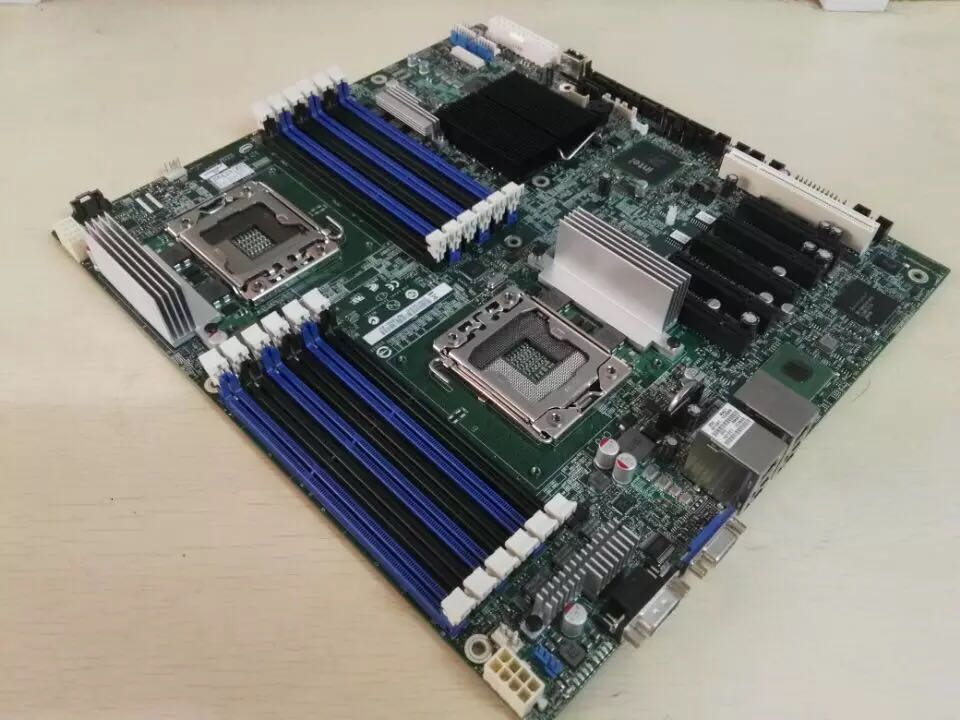 S5520HC Dual 1366 X58 Server Board Support Xeon 6-core ECC REG Memory  12 Memory Slots Used 90%new