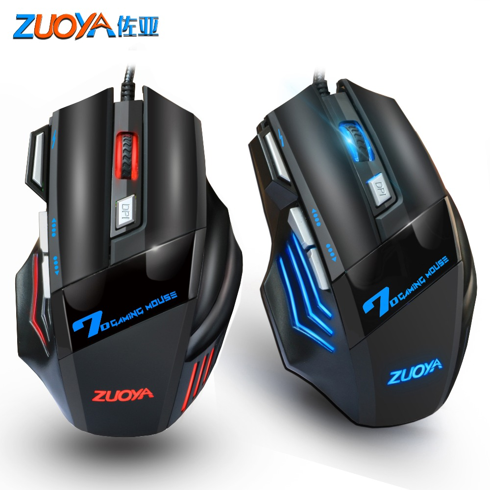 ZUOYA Gaming Mouse Professional Game Mice  Wired USB 5500DPI Adjustable LED Backlight Optical Mause For Computer Gamer Laptop PC