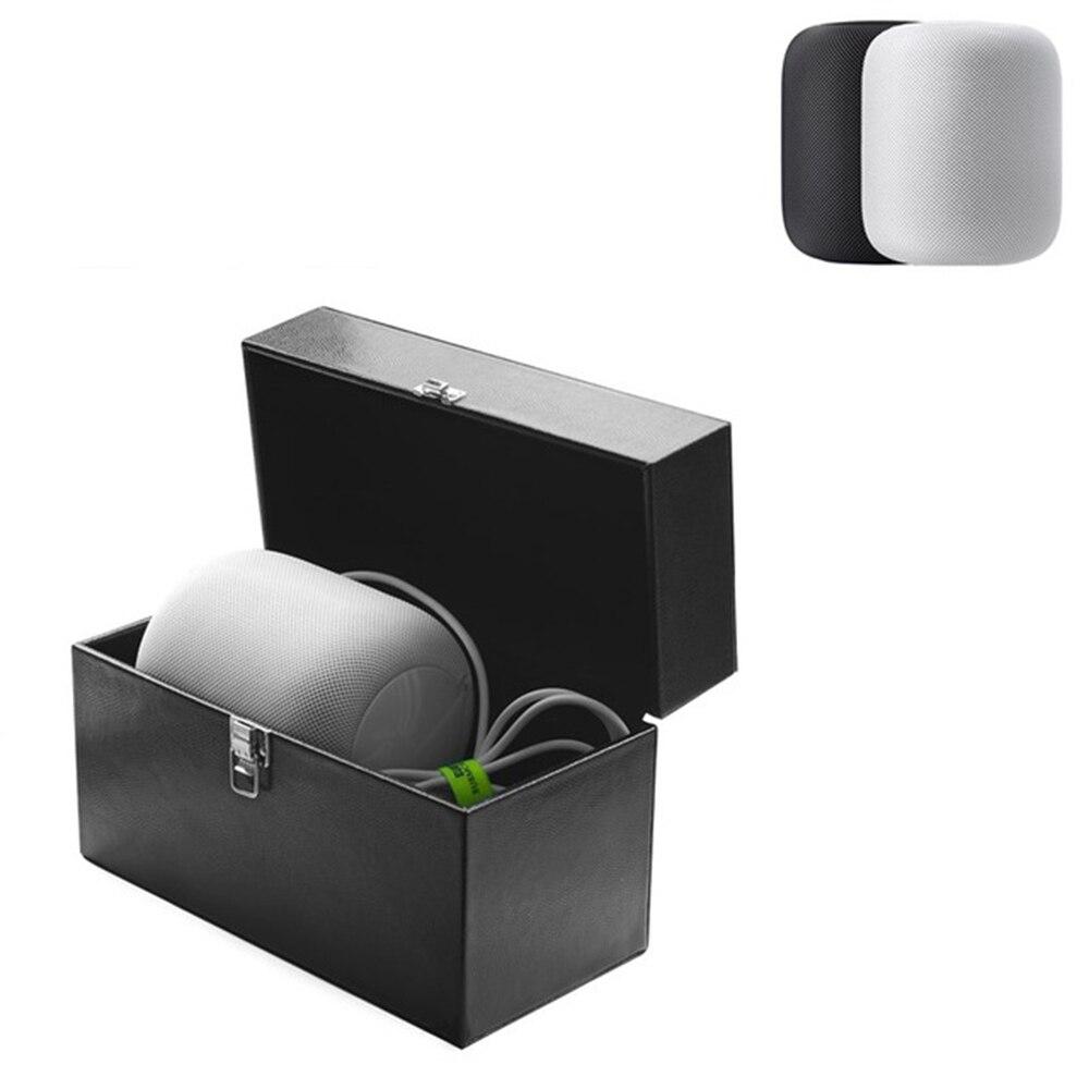 Housse de voyage étui à haut-parleur pour Apple homepod Bluetooth enceintes caisse de son rangement sac de transport pochette maille poche sangle sac à main